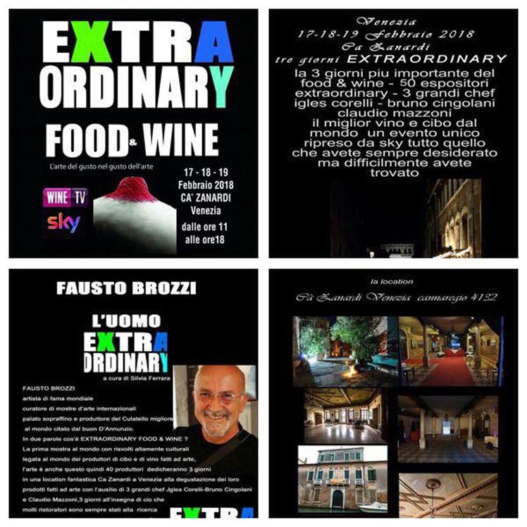 La Prima Edizione di Extraordinary Food & Wine In Venice 2018 a Ca' Zanardi